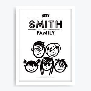 Your Family Portrait Custom Art Print