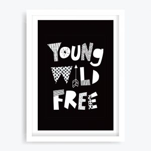 Young Wild Free Art Print