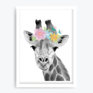 Pretty Giraffe Art Print