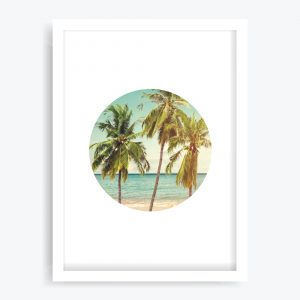 Retro Palms Art Print