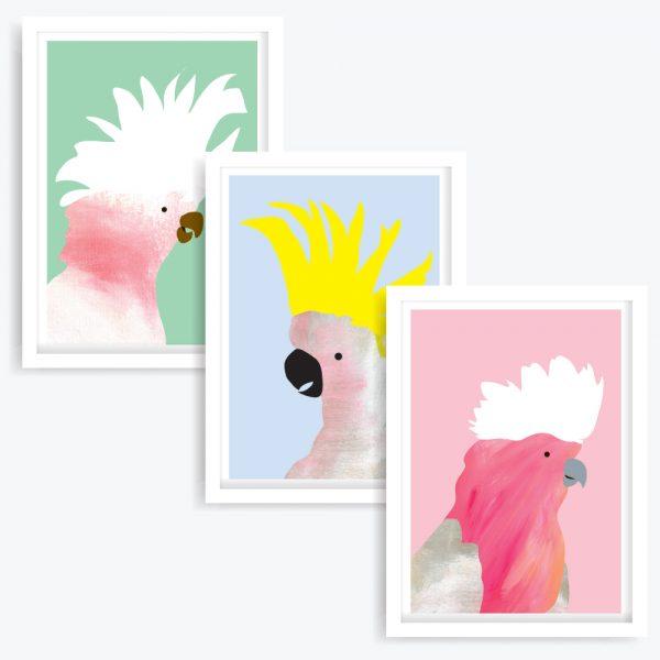 Birds of a Feather Art Prints (set of 3)