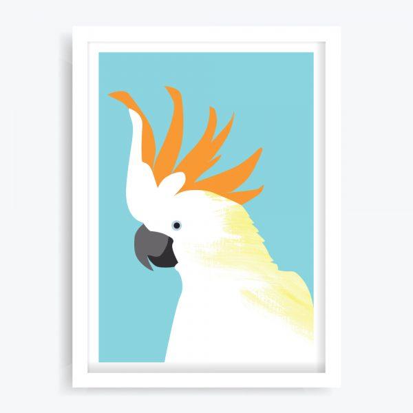 Citron-crested Cocky Art Print
