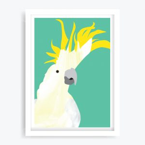 Dancing Cockatoo Art Print