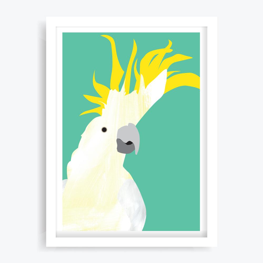 Dancing Cockatoo Art Print