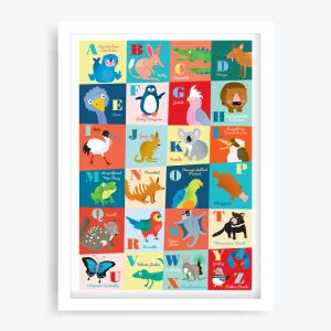 Oz Animals Alphabet Art Print