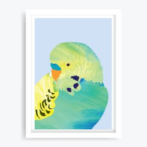 Pretty Boy Green Art Print