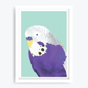 Pretty Boy Purple Art Print