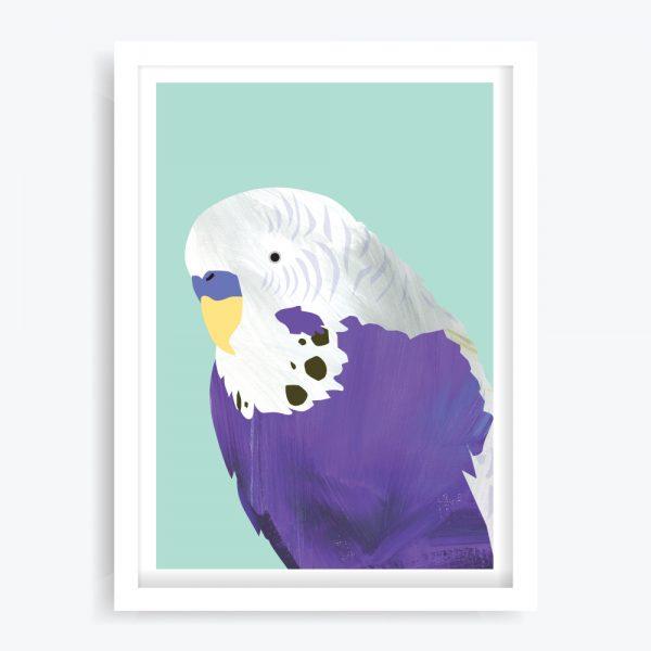 Pretty Boy Purple Art Print