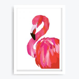 Fancy Flamingo Art Print