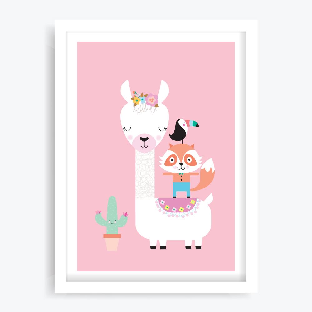 Lulu Llama Art Print
