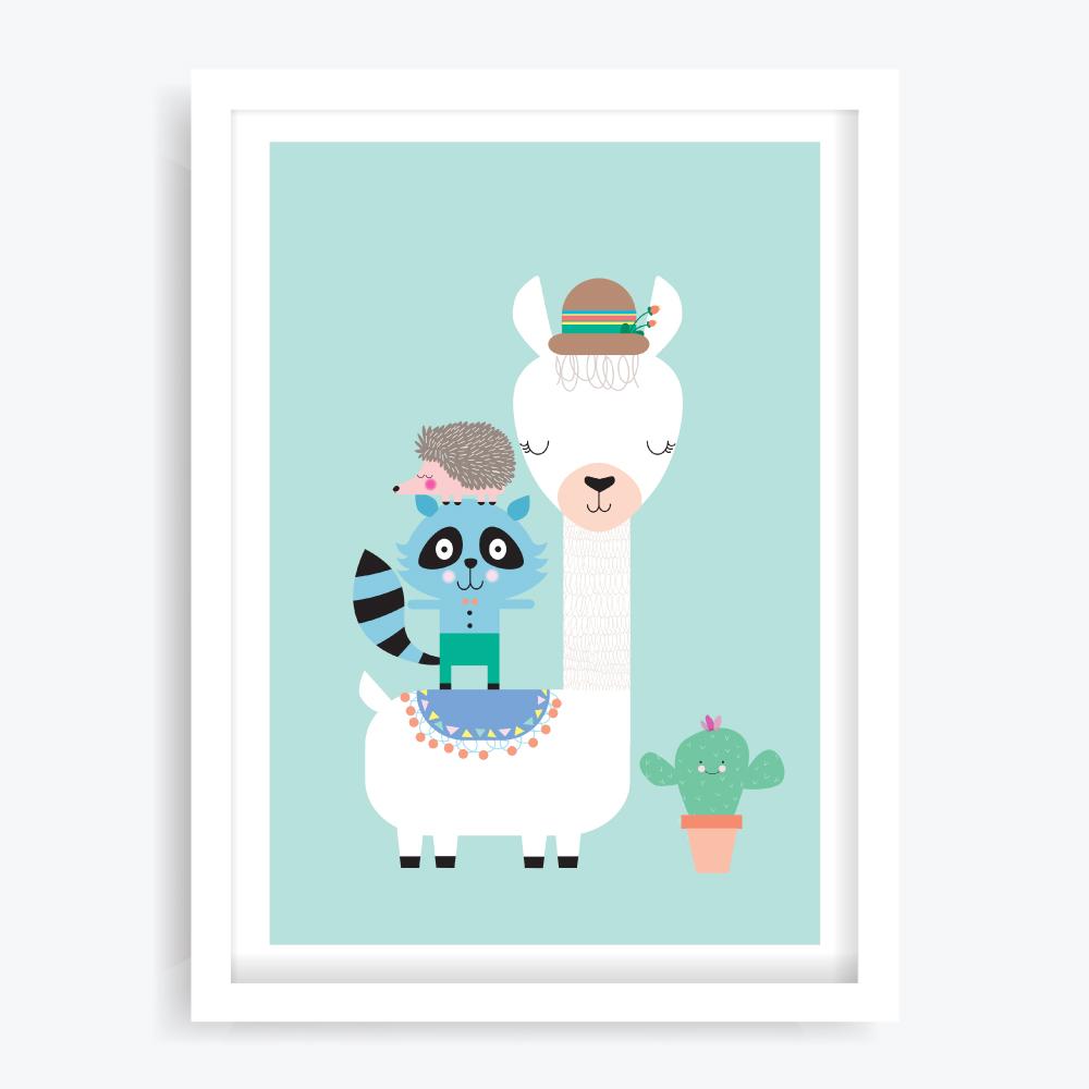 Lucky Llama Art Print
