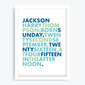 Boys Birth Custom Art Print