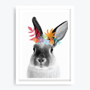 Woodsy Rabbit Art Print