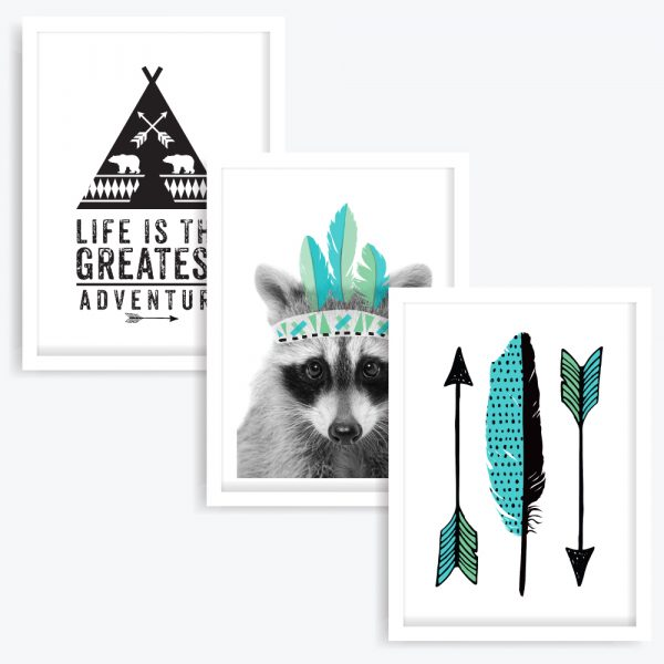 Weekend Warrior Art Prints (set of 3)