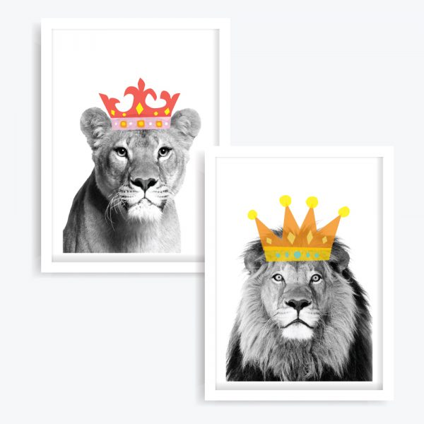 Jungle Royale Art Prints (set of 2)