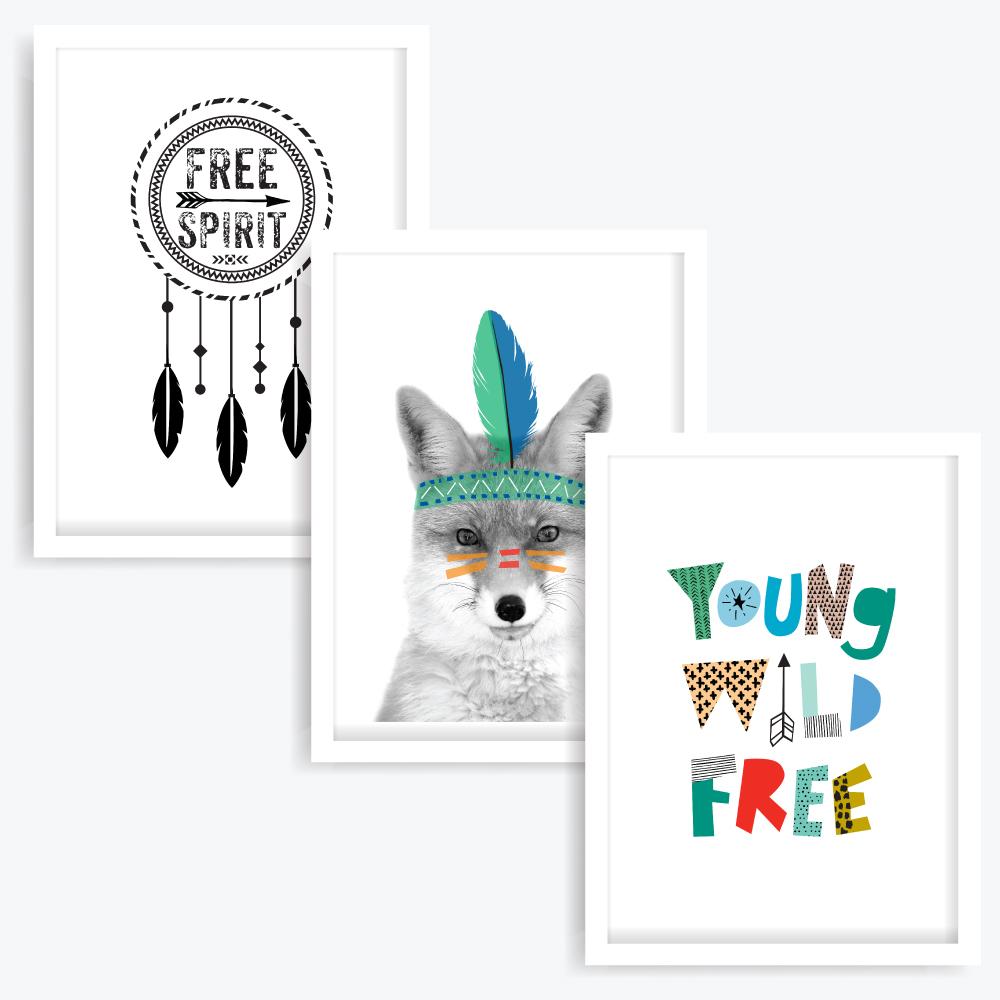 Free Spirit Art Prints (set of 3)