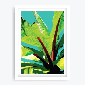 Banana Palms #3 Art Print