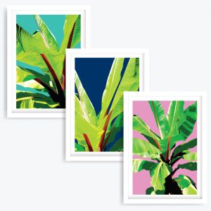 Tropical Garden Art Prints (set of 3)
