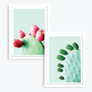 A Very Prickly Pair Art Prints (set of 2)