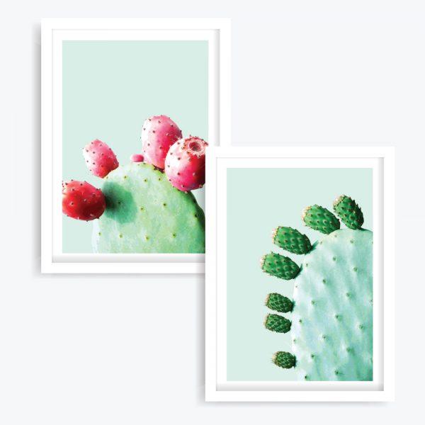A Very Prickly Pair Art Prints (set of 2)
