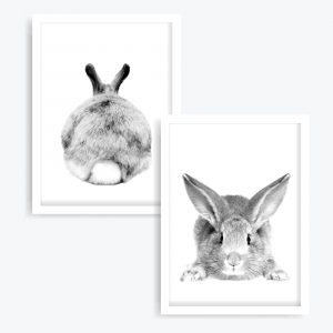 Mr. Cottontail Art Prints (set of 2)