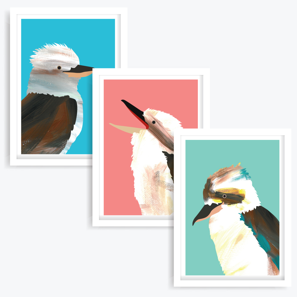 The Happy Kookas Art Prints (set of 3)
