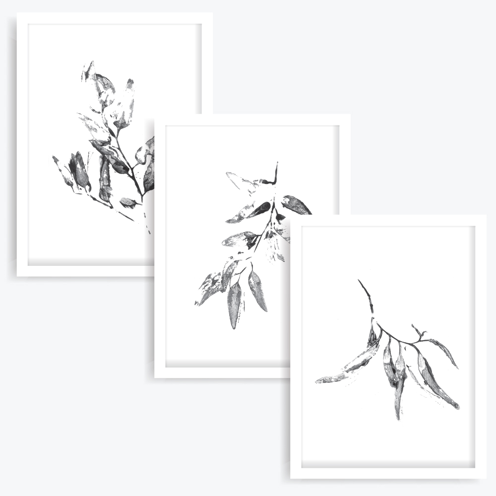 Gum Leaves Art Prints (set of 3)