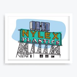 Nylex Sign Art Print