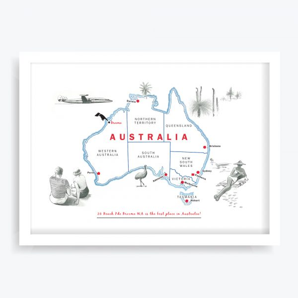 Best Place in Australia Custom Art Print