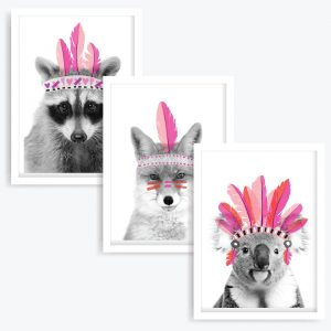 Feathered Femmes Art Prints (set of 3)