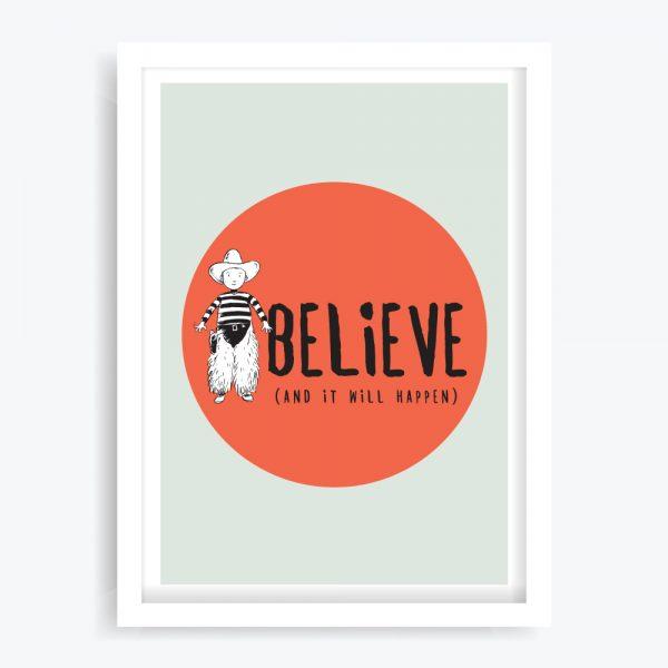 Believe Wall Art Print