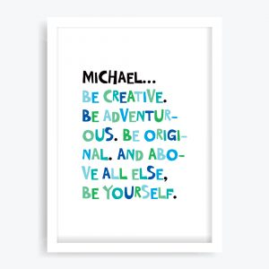 Be Yourself Boys Custom Art Print