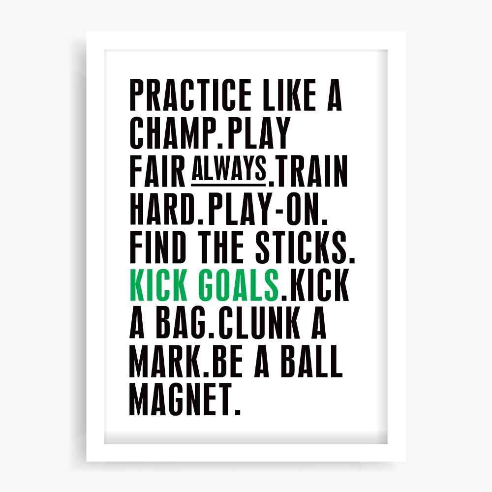 Kick Goals Art Print