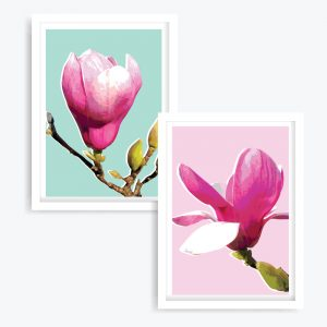 Sweet Magnolias Art Prints (set of 2)