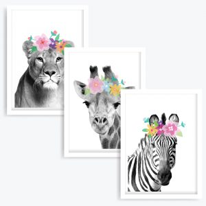 The Flower Girls Art Prints (set of 3)