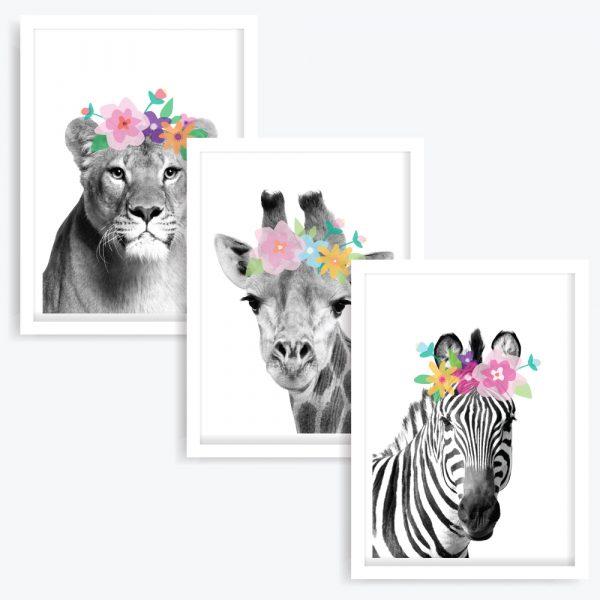 The Flower Girls Art Prints (set of 3)
