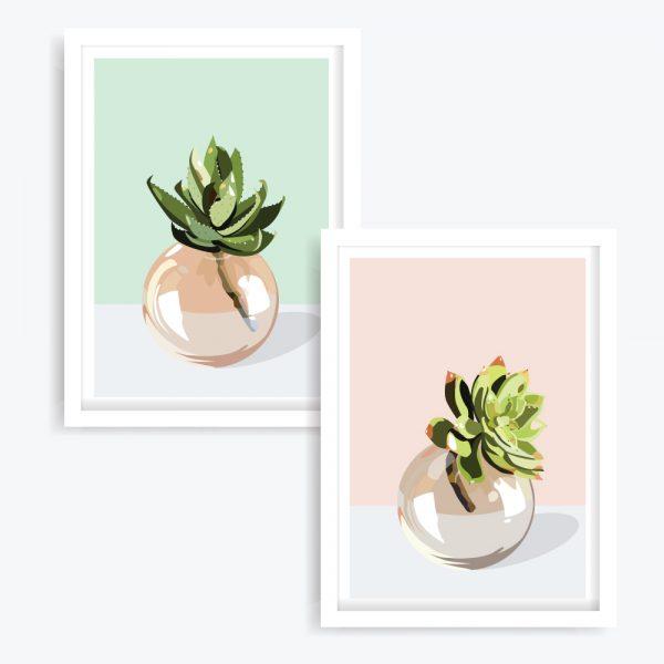 Botanical Bliss Art Prints (set of 2)